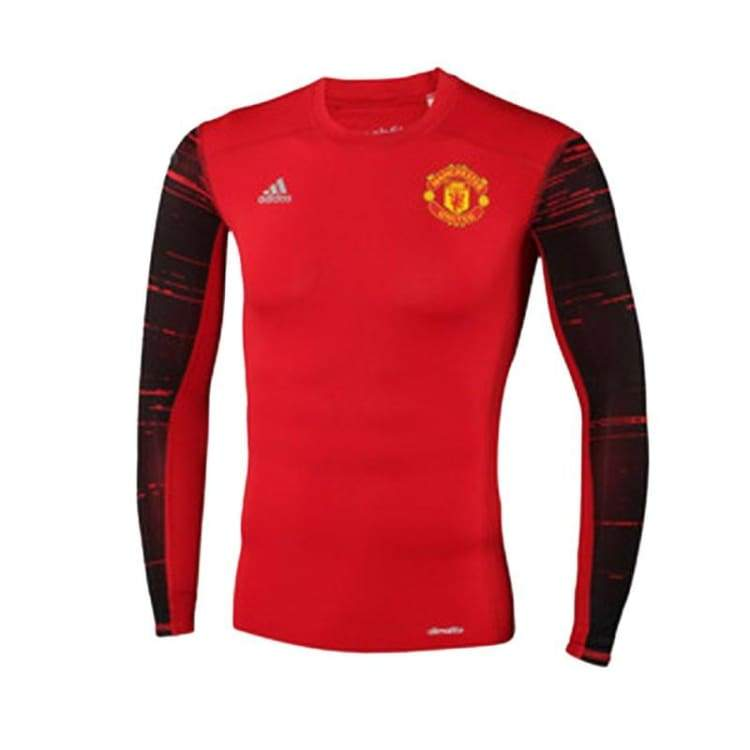 Tops / Warm Up: Adidas Manchester United 16/17 L/s Training Jersey Rd Ay8656 - Adidas / Xs / Red / 1617 Adidas Clothing Land Manchester