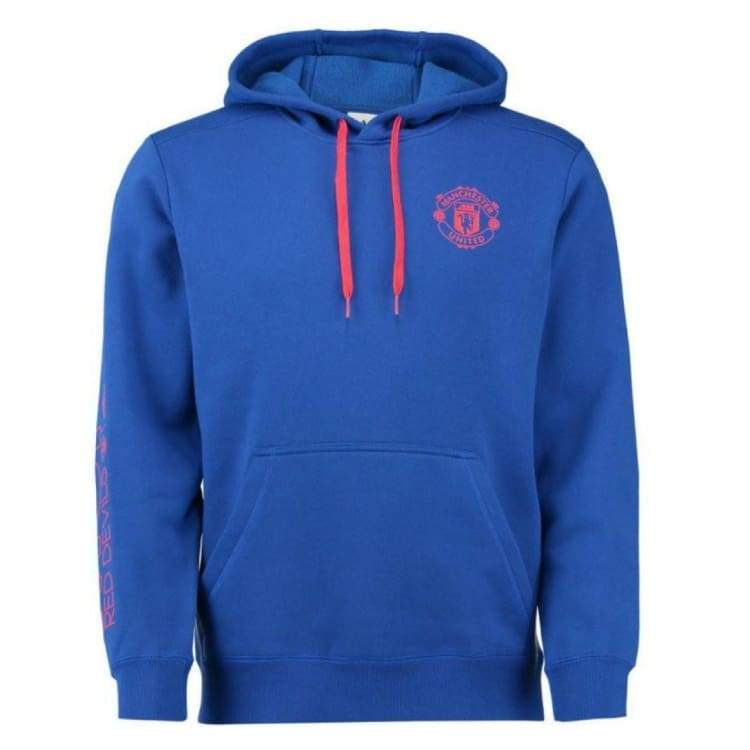 Hoodies & Sweaters: Adidas Manchester United 16/17 Sweater Hood Bu Ap1800 - Adidas / Xs / Blue / 1617 Adidas Blue Clothing Hoodies &