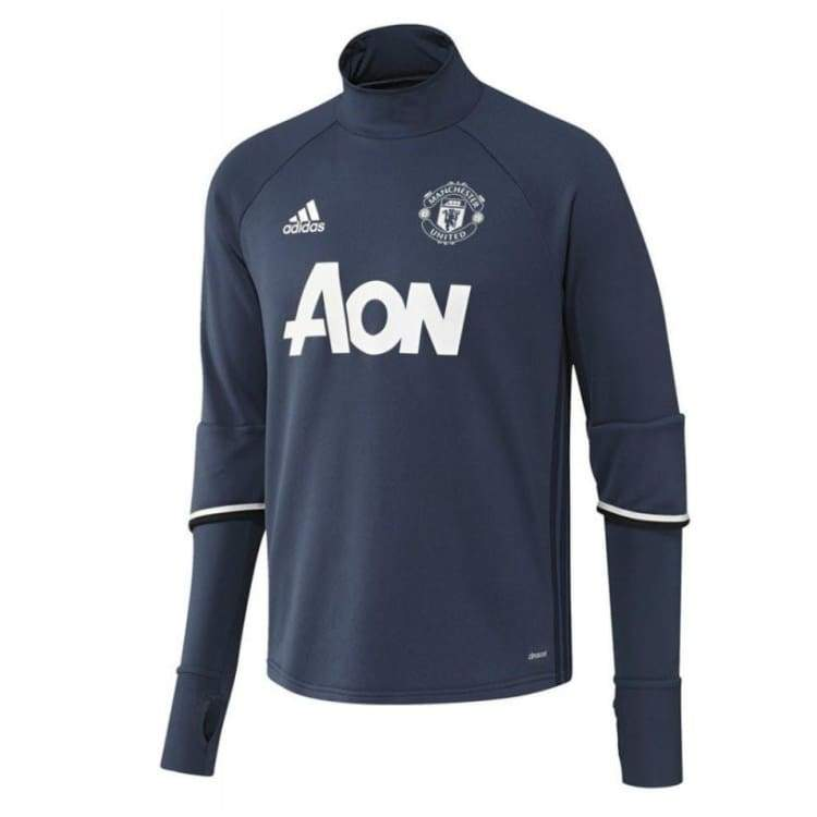 Tops / Warm Up: Adidas Manchester United 16/17 Training Top Youth Ap1026 - Adidas / Kids: 152 / Blue / 1617 Adidas Blue Boys Clothing |