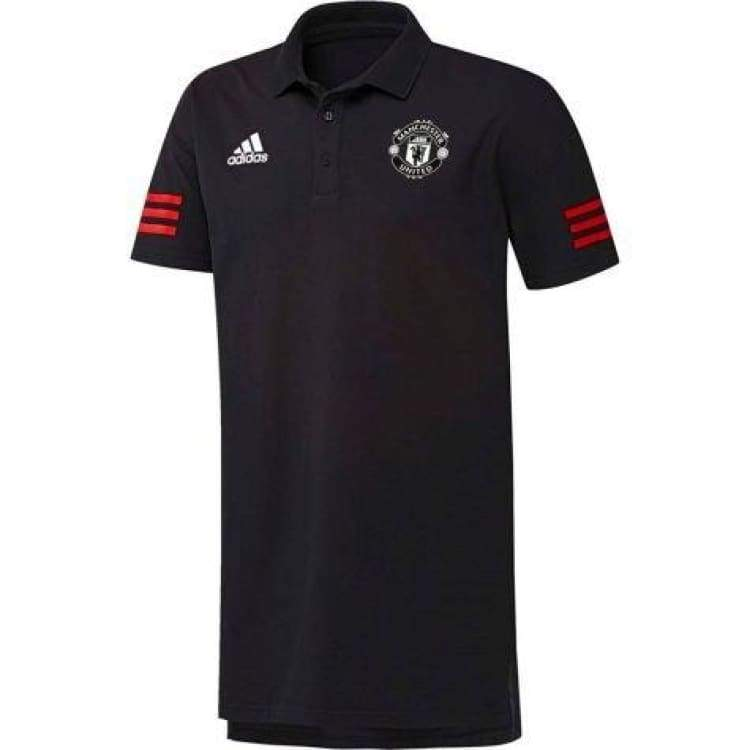 Polos / Short Sleeve: Adidas Manchester United 17/18 Eu Polo Shirt Bq1460 - Adidas / Xs / Black / 1718 Adidas Black Clothing Fans Wear |