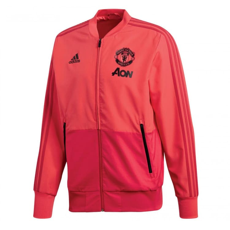 Jackets / Track: Adidas Manchester United 18/19 Presentation Jacket CW7629 - XS / Red / Adidas / 1819 Adidas Clothing Jackets Jackets /