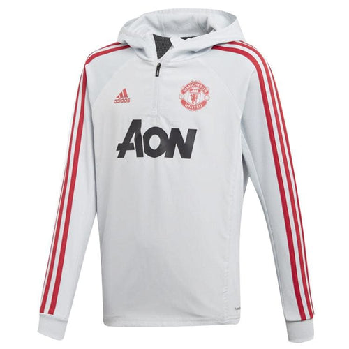 Hoodies & Sweaters: Adidas Manchester United 1819 Warm Top Grey DX6201 [Boys] - adidas / Kids: 128 / Grey / 1819 Adidas Clothing Grey