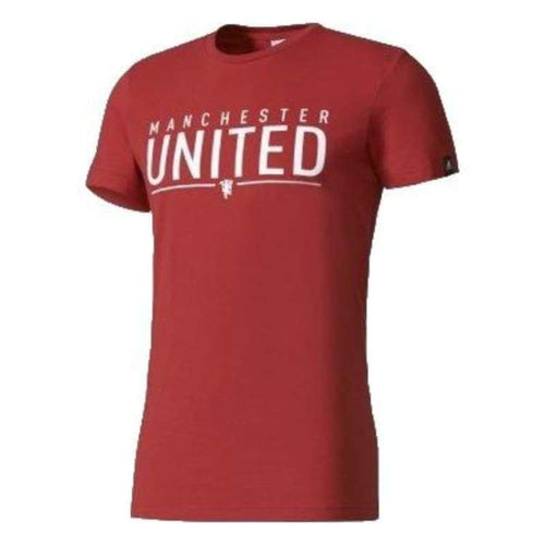 Tees / Short Sleeve: Adidas Manchester United Graphic Tee Az9846 - Adidas / S / Red / Adidas Clothing Fans Wear Land Manchester United |