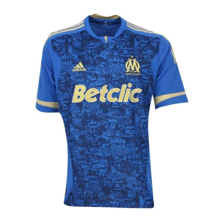 Jerseys / Soccer: Adidas Marseille 11/12 (A) S/s V13689 - Adidas / L / Blue / 1112 Adidas Away Kit Blue Clothing |