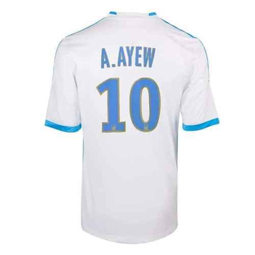 Jerseys / Soccer: Adidas Marseille 13/14 (H) S/S Jersey (#10 A.AYEW) Z27594 - adidas / L / White / 1314, Adidas, Clothing, Home Kit, Jerseys