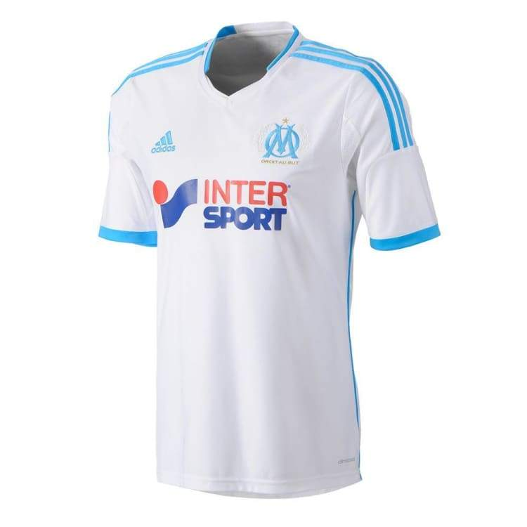Jerseys / Soccer: Adidas Marseille 13/14 (H) S/s Z27594 - Adidas / S / White / 1314 Adidas Clothing Home Kit Jerseys |
