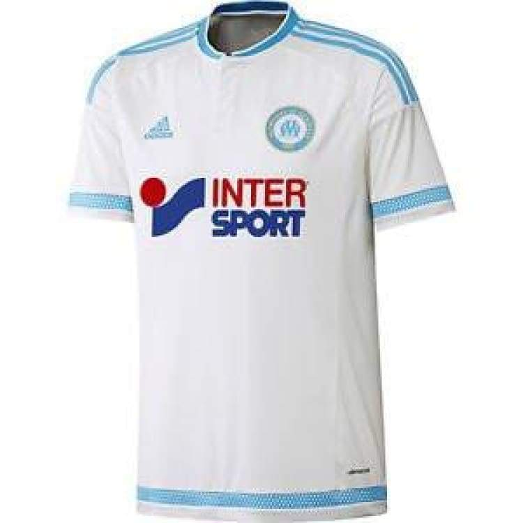 Jerseys / Soccer: Adidas Marseille 15/16 (H) S/s S11891 - Adidas / S / White / 1516 Adidas Clothing Home Kit Jerseys |