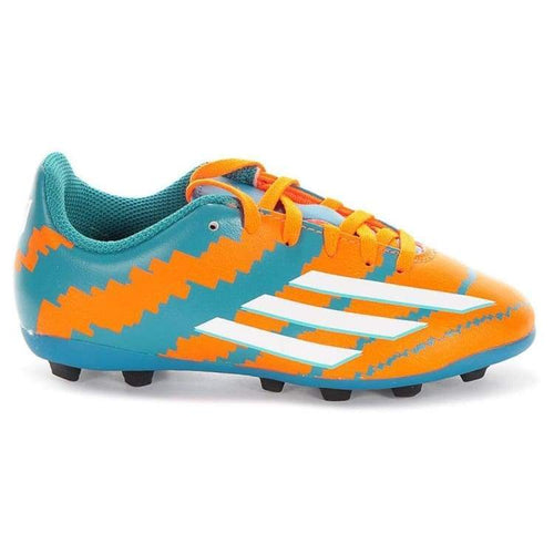 Cleats / Soccer: Adidas Messi 10.4 Fxg J Wht/oj B32718 - Adidas / Uk: 3.0 / Teal/orange / Adidas Cleats / Soccer Footwear Kids Land |