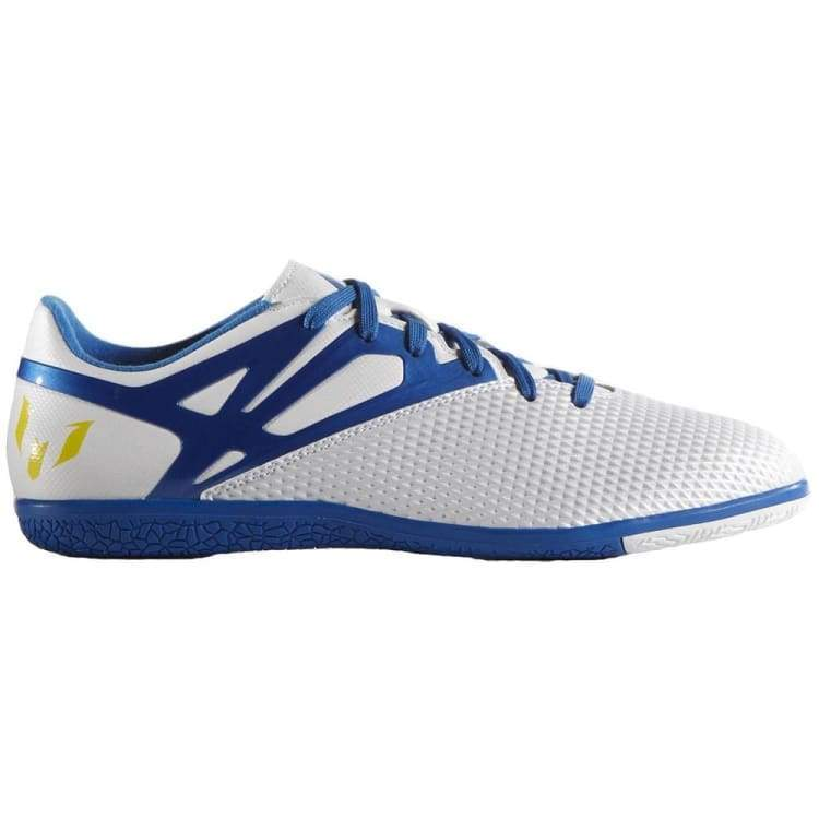 Shoes / Soccer: Adidas Messi 15.3 In Wht/bu/bk B24591 - Adidas / Uk: 6.5 / Blue / Adidas Blue Footwear Land Mens |