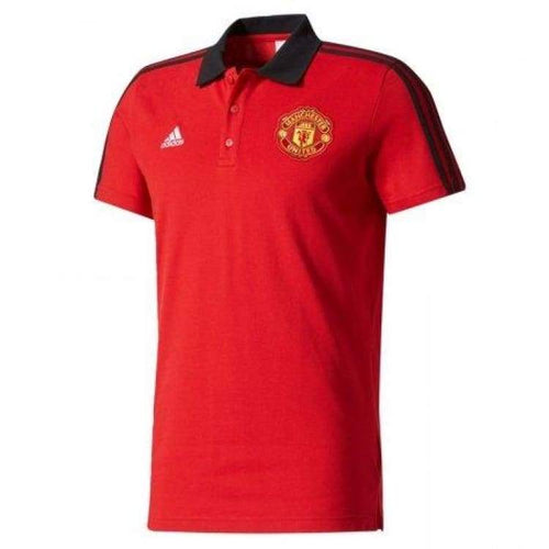 Polos / Short Sleeve: Adidas Mufc 17/18 3S Polo Bq2221 - Adidas / Xs / Red / 1718 Adidas Clothing Football Land | Ochk-Sfalo-Bq2221-Red-1