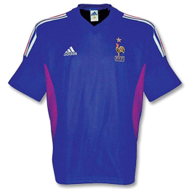 Jerseys / Soccer: Adidas National Team 2002 France (H) S/s Player - M / Blue / Adidas / 2002 Adidas Blue Clothing France |