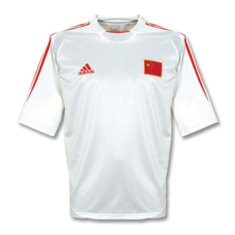 Jerseys / Soccer: Adidas National Team 2004 China (H) S/s - L / White / Adidas / 2004 Adidas China Clothing Home Kit |
