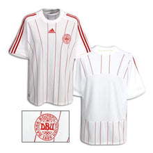Jerseys / Soccer: Adidas National Team 2008 Denmark (A) S/s Jersey - 2008 Adidas Away Kit Clothing Denmark
