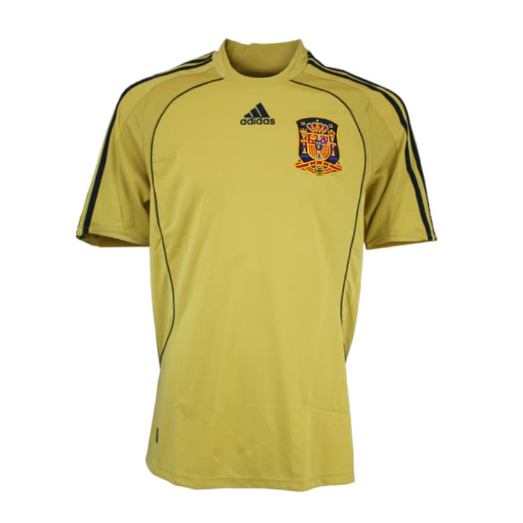 Jerseys / Soccer: Adidas National Team 2008 Spain (A) S/s Jersey - Adidas / L / Gold / 2008 Adidas Away Kit Clothing Gold |