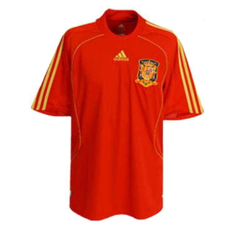 Jerseys / Soccer: Adidas National Team 2008 Spain (H) S/s Jersey - Adidas / Xl / Red / 2008 Adidas Away Kit Clothing Home Kit |