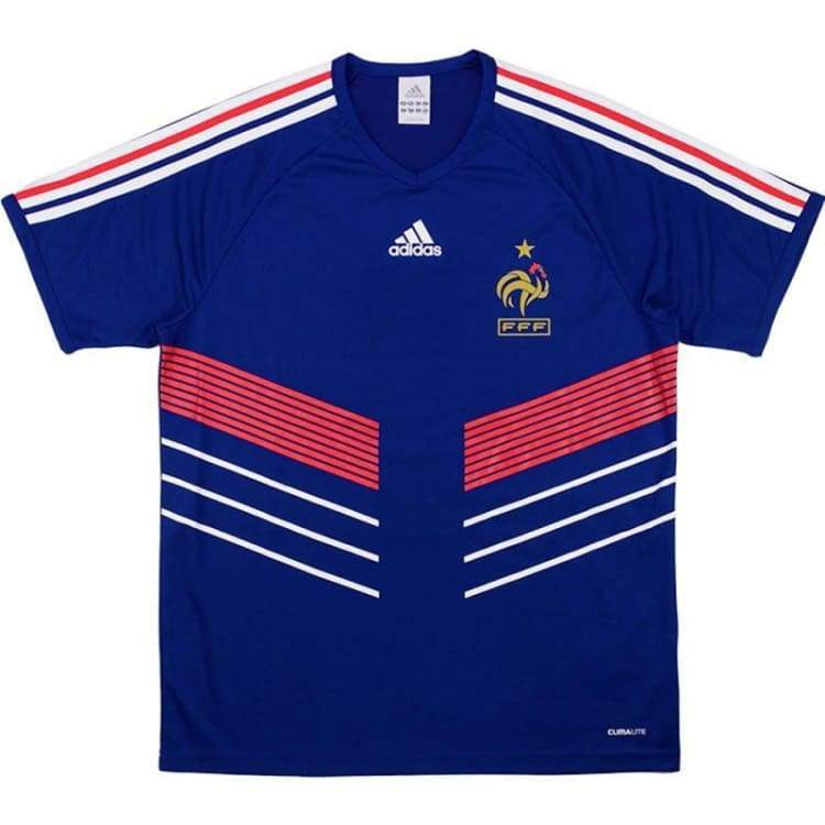 Jerseys / Soccer: Adidas National Team 2009 France (H) S/s - M / Blue / Adidas / 2009 Adidas Blue Clothing France |