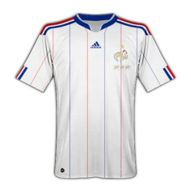 Jerseys / Soccer: Adidas National Team 2010 France (A) S/s Jersey - Adidas / 2Xl / White / 2010 Adidas Away Kit Clothing France |