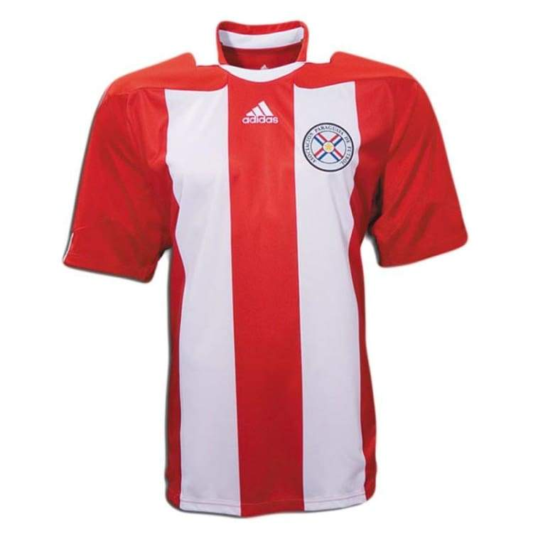 Jerseys / Soccer: Adidas National Team 2010 Paraguay (H) S/s Jersey - Adidas / M / Red / White / 2010 Adidas Clothing Home Kit Jerseys |