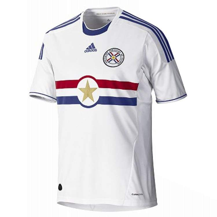 Jerseys / Soccer: Adidas National Team 2011 Paraguay (A) S/s Jersey - Adidas / S / White / 2011 Adidas Away Kit Clothing Jerseys |