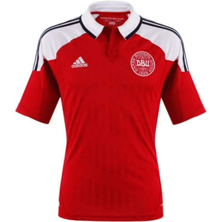 Jerseys / Soccer: Adidas National Team 2012 Denmark (H) S/s - S / Red / Adidas / 2012 Adidas Clothing Denmark Denmark (World Cup) |