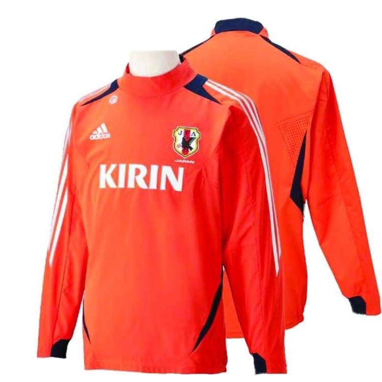 Tops / Warm Up: Adidas National Team 2012 Japan Training Orange X47639 L/s - Adidas / Jaspo: S / Orange / 2012 Adidas Clothing Japan Japan