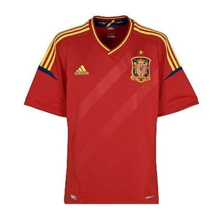 Jerseys / Soccer: Adidas National Team 2012 Spain (H) S/s X10937 - Adidas / S / Red / 2012 Adidas Clothing Home Kit Jerseys |