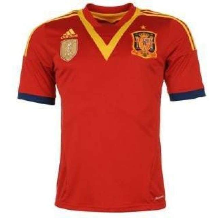 Jerseys / Soccer: Adidas National Team 2013 Spain (H) S/s X53272 - Adidas / S / Red / 2013 Adidas Clothing Home Kit Jerseys |