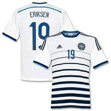 Jerseys / Soccer: Adidas National Team 2014 World Cup Denmark (A) S/s D86146 With Nameset - 2014 Adidas Away Kit Clothing Denmark