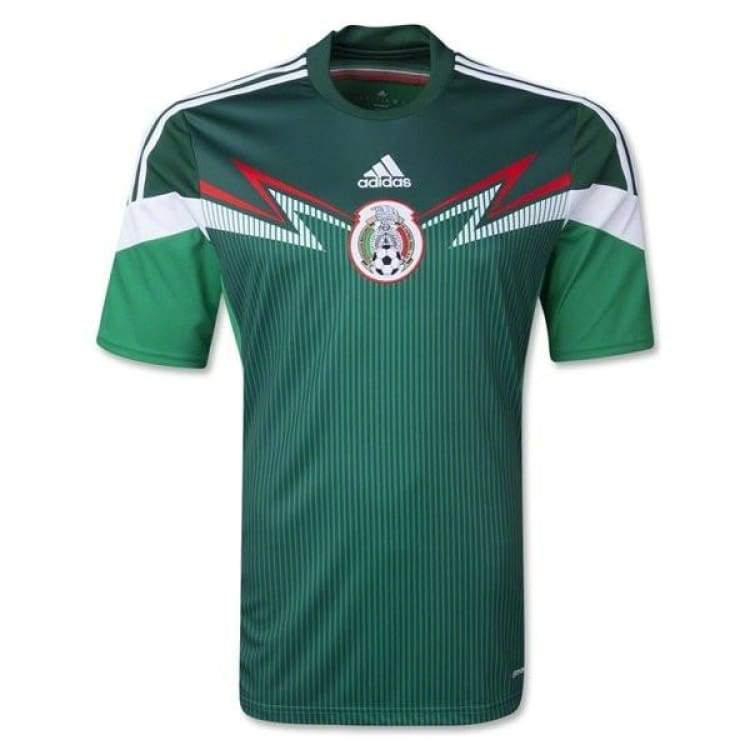 Jerseys / Soccer: Adidas National Team 2014 World Cup Mexico (H) S/s G86985 - Adidas / S / Green / 2014 Adidas Clothing Green Home Kit |