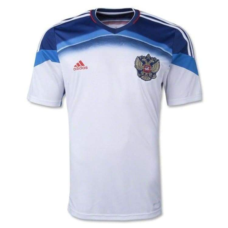 Jerseys / Soccer: Adidas National Team 2014 World Cup Russia (A) S/s D85591 - Adidas / M / White / 2014 Adidas Away Kit Clothing Jerseys |