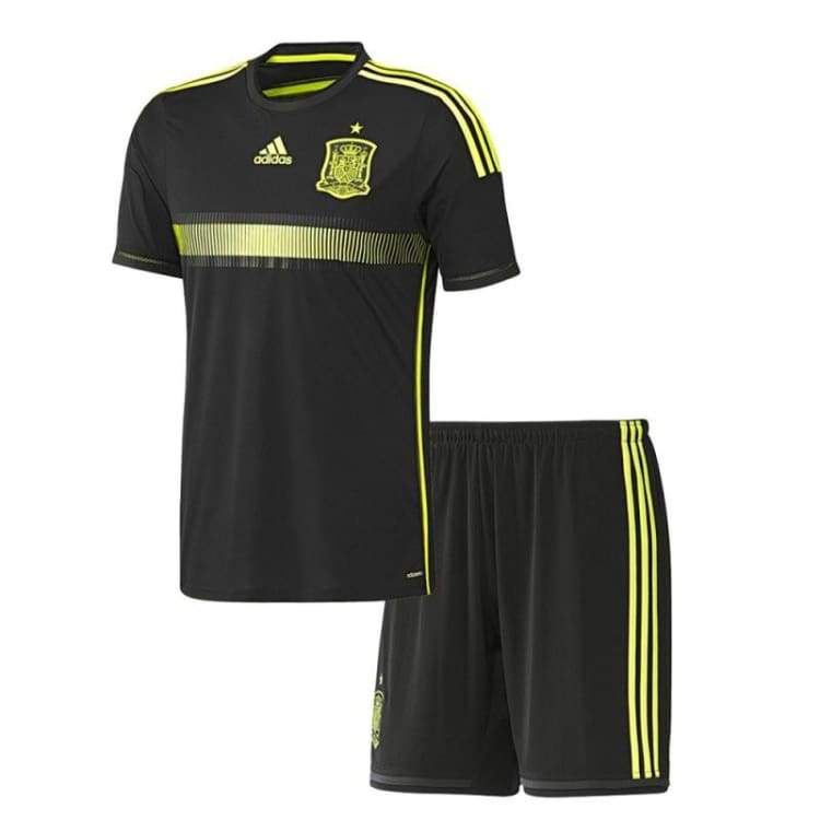 Jerseys / Soccer: Adidas National Team 2014 World Cup Spain (A) Mini Kit S/s G85352 - Adidas / Kids: 104 / Black / 104 2014 Adidas Away Kit