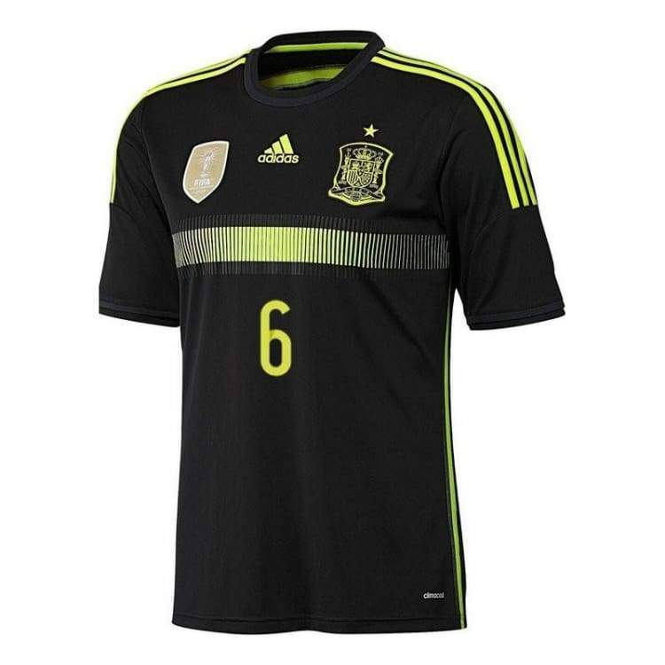 Jerseys / Soccer: Adidas National Team 2014 World Cup Spain (A) S/s Jersey - F39821 - Adidas / M / Black / 2014 Adidas Away Kit Black