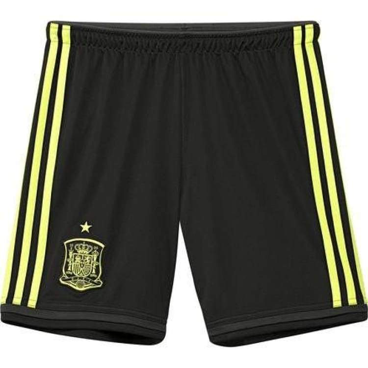 Shorts / Soccer: Adidas National Team 2014 World Cup Spain (A) Youth Shorts G85350 - Adidas / Kids: 128 / Black / 2014 Adidas Away Kit Black