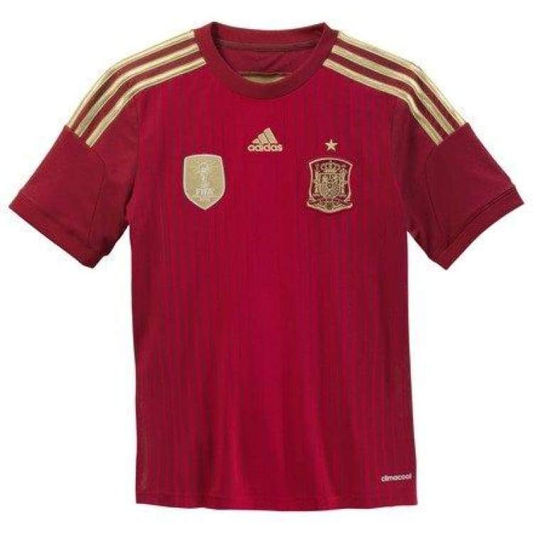 Jerseys / Soccer: Adidas National Team 2014 World Cup Spain (H) Boys S/s G85231 - Adidas / Kids: 128 / Red / 2014 Adidas Clothing Home Kit