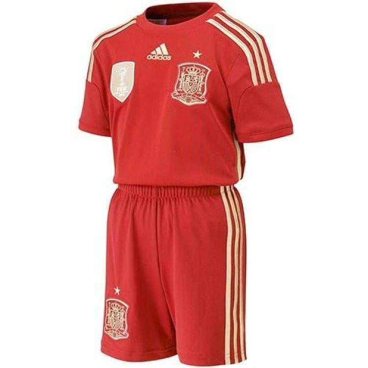 Jerseys / Soccer: Adidas National Team 2014 World Cup Spain (H) Mini Kit S/s G85238 - Adidas / Kids: 104 / Red / 2014 Adidas Clothing Home