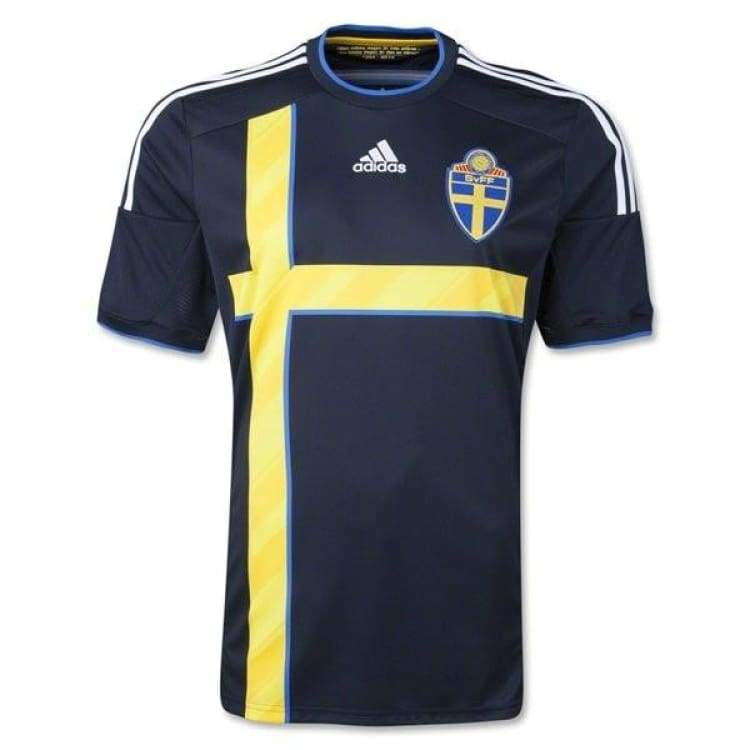 Jerseys / Soccer: Adidas National Team 2014 World Cup Sweden (A) S/s G76545 - Adidas / S / Navy / 2014 Adidas Away Kit Clothing Jerseys |