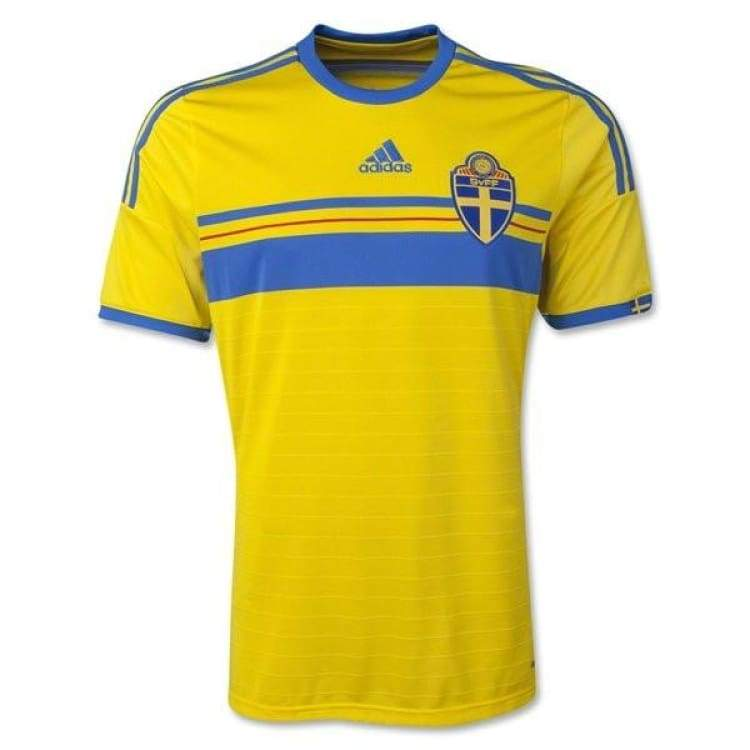 Jerseys / Soccer: Adidas National Team 2014 World Cup Sweden (H) S/s G91580 - Adidas / S / Yellow / 2014 Adidas Clothing Home Kit Jerseys |
