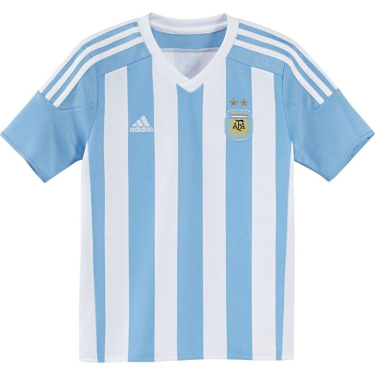 Jerseys / Soccer: Adidas National Team 2015 Argentina (H) Youth S/s Ac0327 - Adidas / White/blue / Kids: 128 / 2015 Adidas Argentina