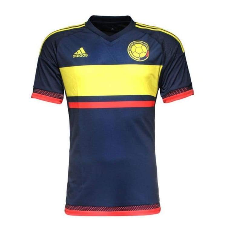 Jerseys / Soccer: Adidas National Team 2015 Colombia (A) S/s Jersey (Navy/yellow/) M62761 - Adidas / Navy / S / 2015 Adidas Away Kit