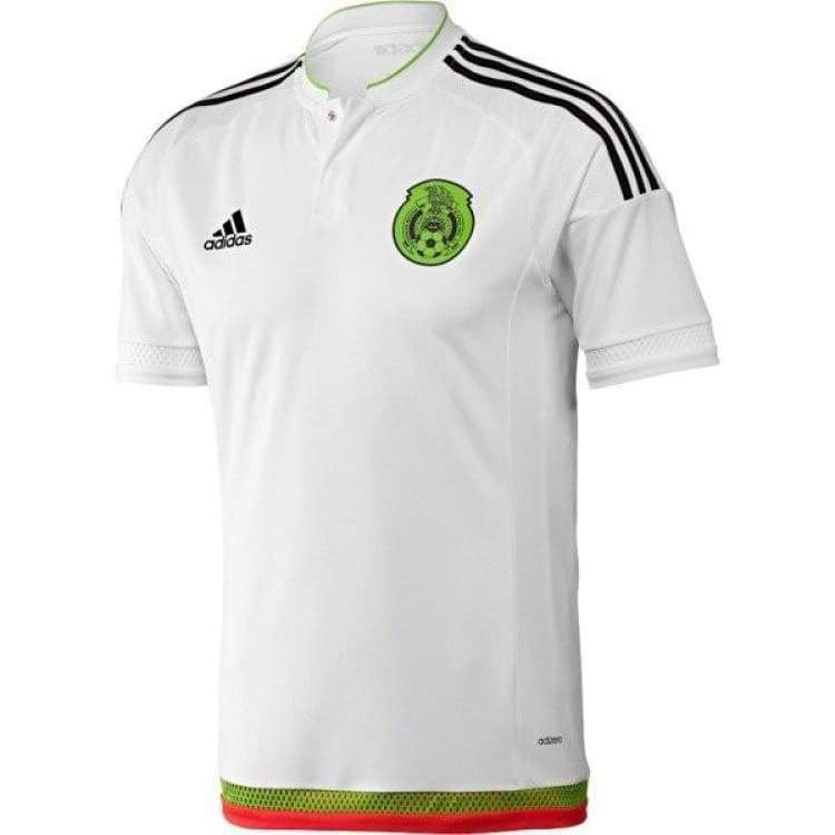 Jerseys / Soccer: Adidas National Team 2015 Mexico (Away) S/s (Wht/bk/gn/rd) M36019 - Adidas / White / S / 2015 Adidas Away Kit Clothing
