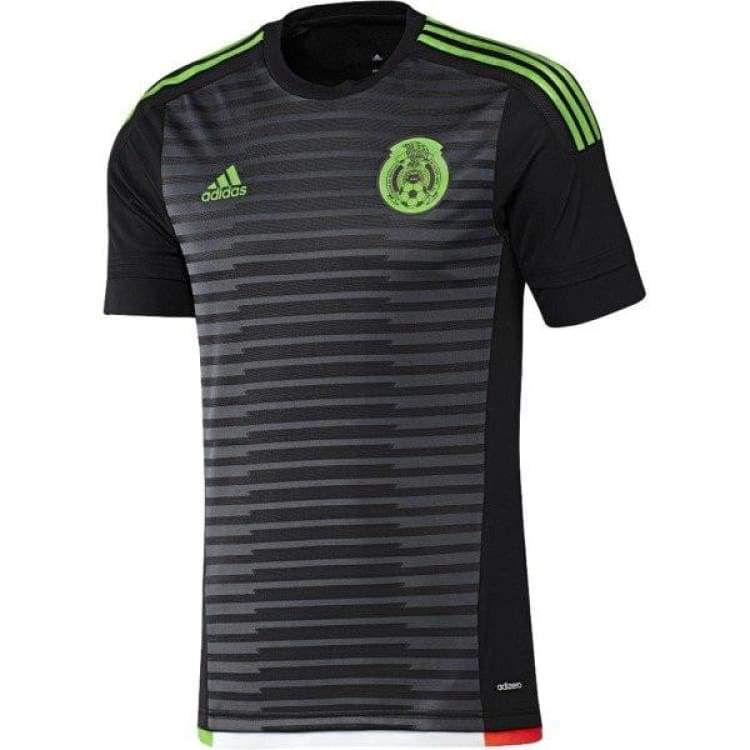 Jerseys / Soccer: Adidas National Team 2015 Mexico (H) S/s (Bk/gy/gn/rd) M36002 - Adidas / Black / S / 2015 Adidas Black Clothing Home Kit |