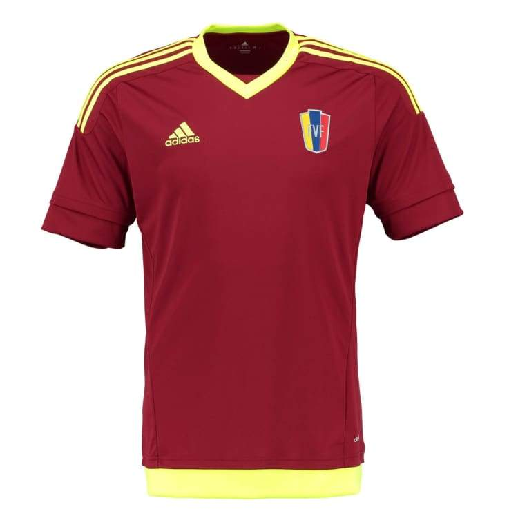 Jerseys / Soccer: Adidas National Team 2015 Venezuela (H) S/s S08905 - Adidas / S / Wine / 2015 Adidas Clothing Jerseys Jerseys / Soccer |