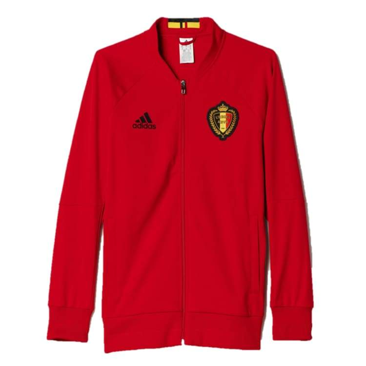 Jackets / Track: Adidas National Team 2016 Belgium Anthem Jacket Ac5818 - Adidas / S / Red / 2016 Adidas Belgium Belgium (World Cup)