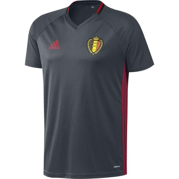 Jerseys / Soccer: Adidas National Team 2016 Belgium Training Jersey Black Ac5769 - S / Black / Adidas / 2016 Adidas Belgium Belgium (World