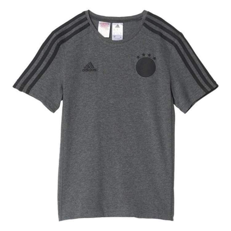 Tees / Short Sleeve: Adidas National Team 2016 Germany 3S Tee Gy/bk Ac6703 - Adidas / Xs / Grey / 2016 Adidas Clothing Fans Wear Germany |