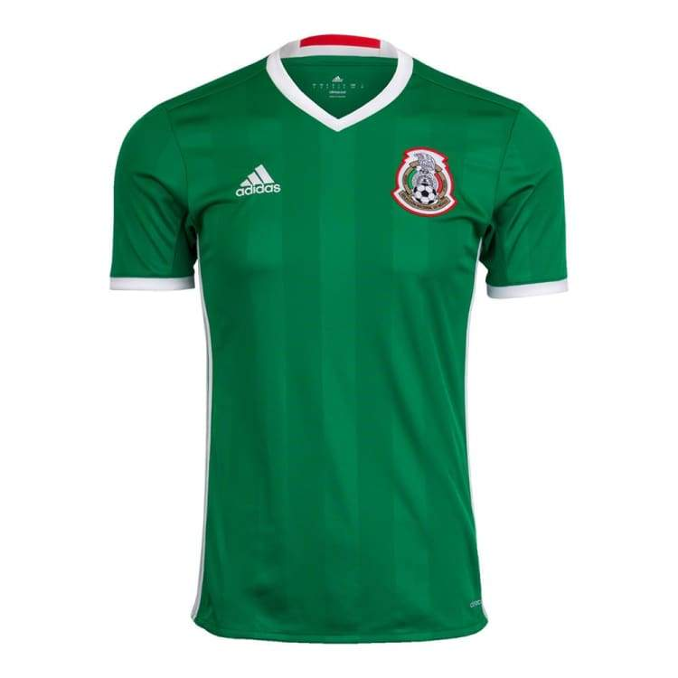 Jerseys / Soccer: Adidas National Team 2016 Mexico (H) S/s Jersey Ac2723 - Adidas / Xs / Green / 2016 Adidas Clothing Green Home Kit |