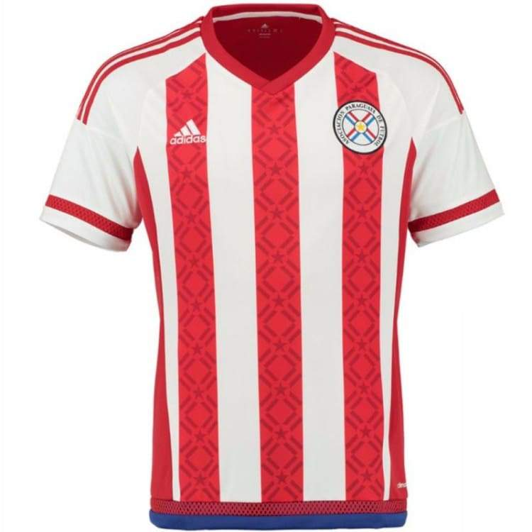 Jerseys / Soccer: Adidas National Team 2016 Paraguay (H) S/s Ap7836 - Adidas / S / Red / 2016 Adidas Clothing Home Kit Jerseys |