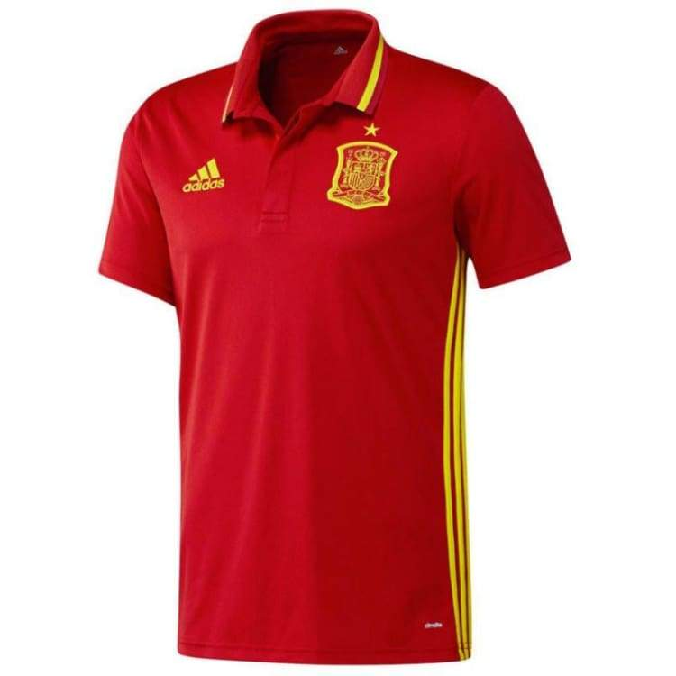 Polos / Short Sleeve: Adidas National Team 2016 Spain Polo Red Ai4860 - Adidas / S / Red / 2016 Adidas Clothing Fans Wear Land |