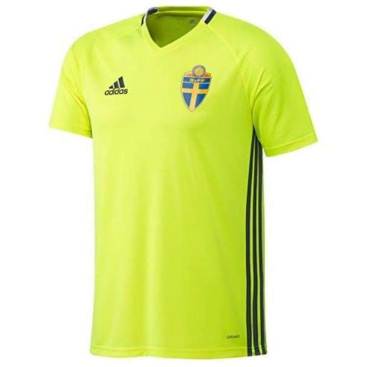 Jerseys / Soccer: Adidas National Team 2016 Sweden Training Jersey Ac3906 - Adidas / Xs / Yellow / 2016 Adidas Clothing Jerseys Jerseys /