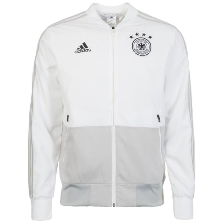 Jackets / Track: Adidas National Team 2018 Germany Presentation Jacket - White Ce6587 - L / Adidas / 2018 2018 Fifa World Cup 2018 World Cup